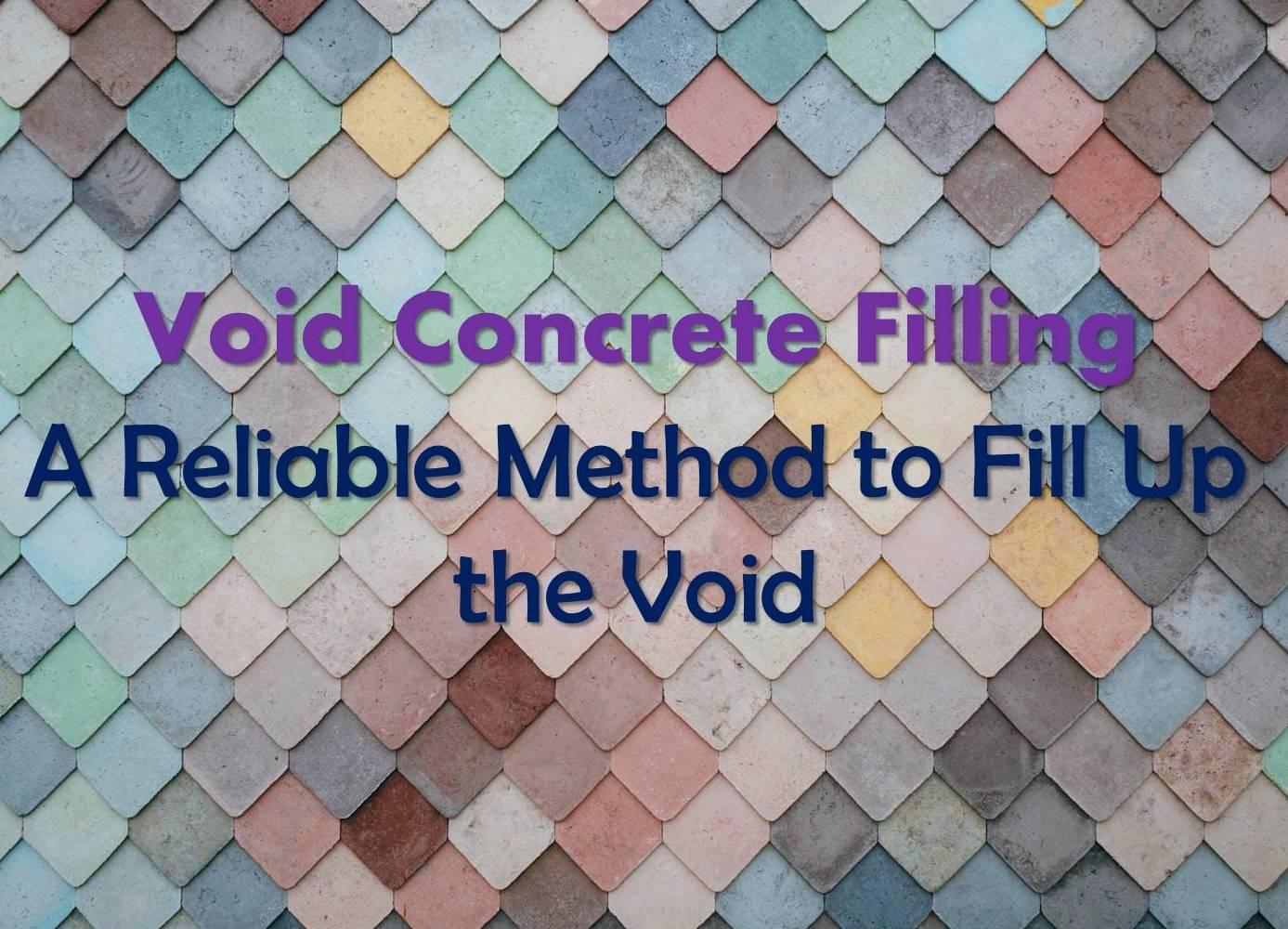 Void Concrete Filling Maple Concrete Pumping