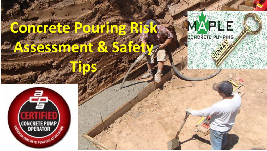 concrete pouring risk assessment  u0026 safety tips