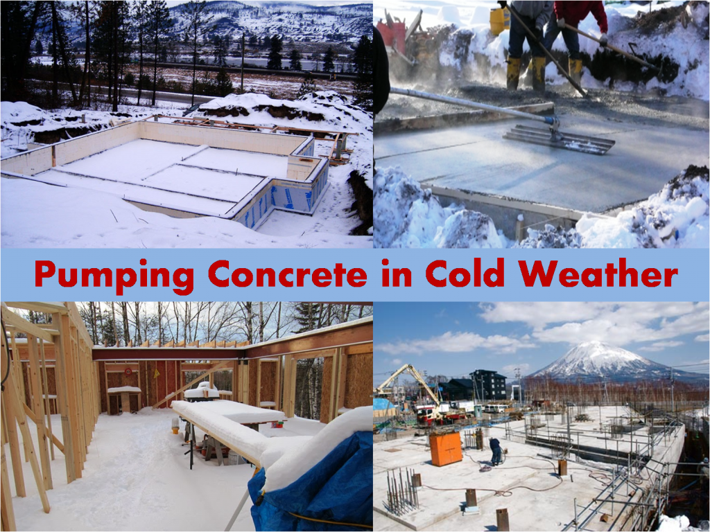 Tips for pumping concrete in cold weather maple concrete for Concrete freezing