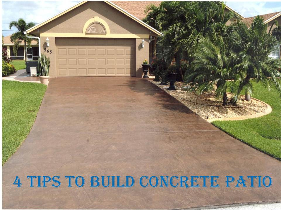 4 tips to build concrete patio maple concrete pumping for Concrete advice