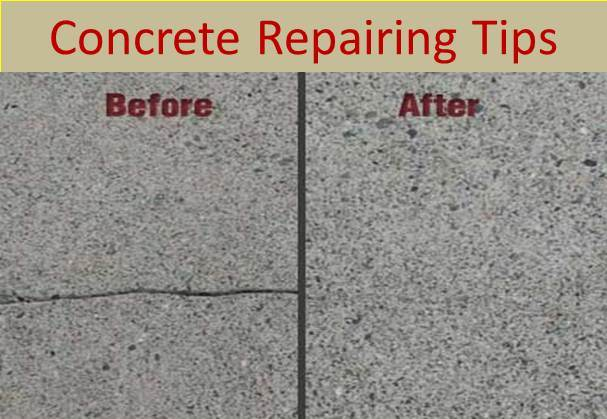 Diy tips for cracked concrete repairing maple concrete for Concrete advice