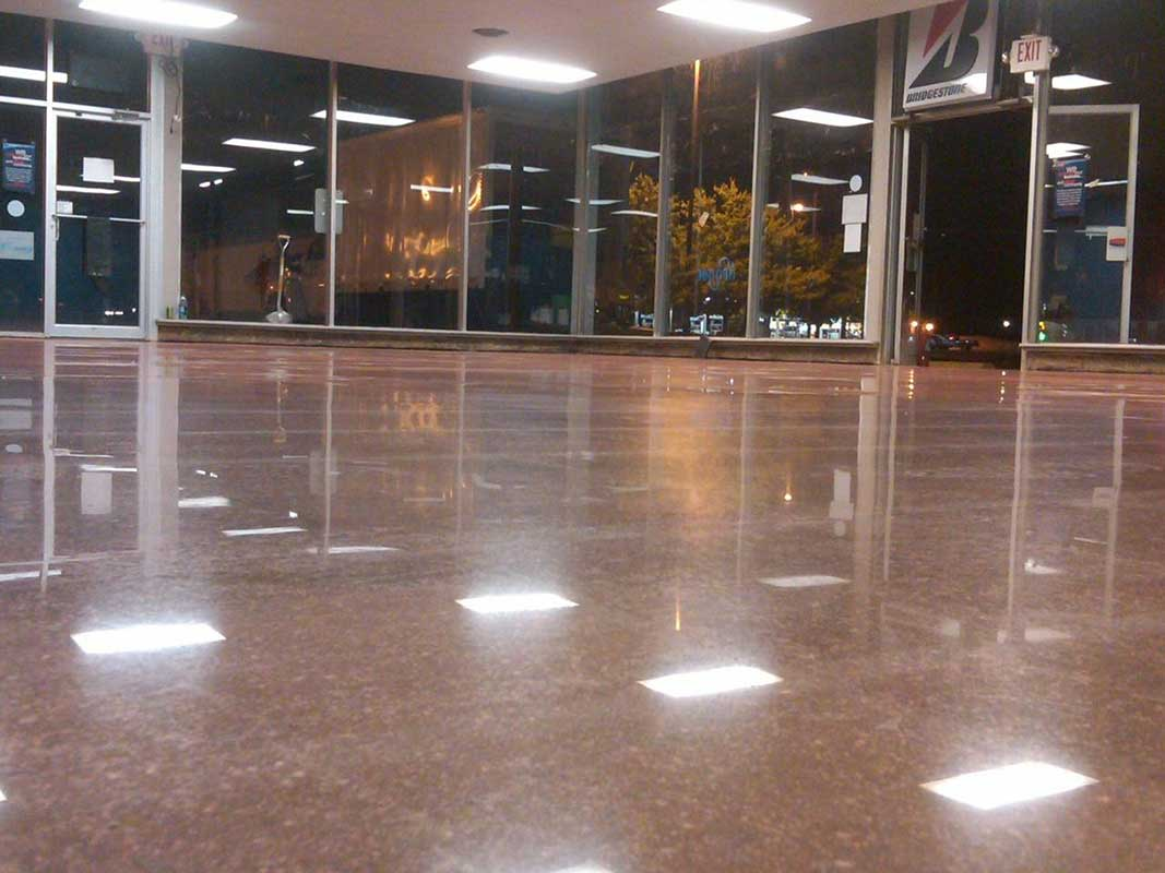 Mirror Finished polished concrete