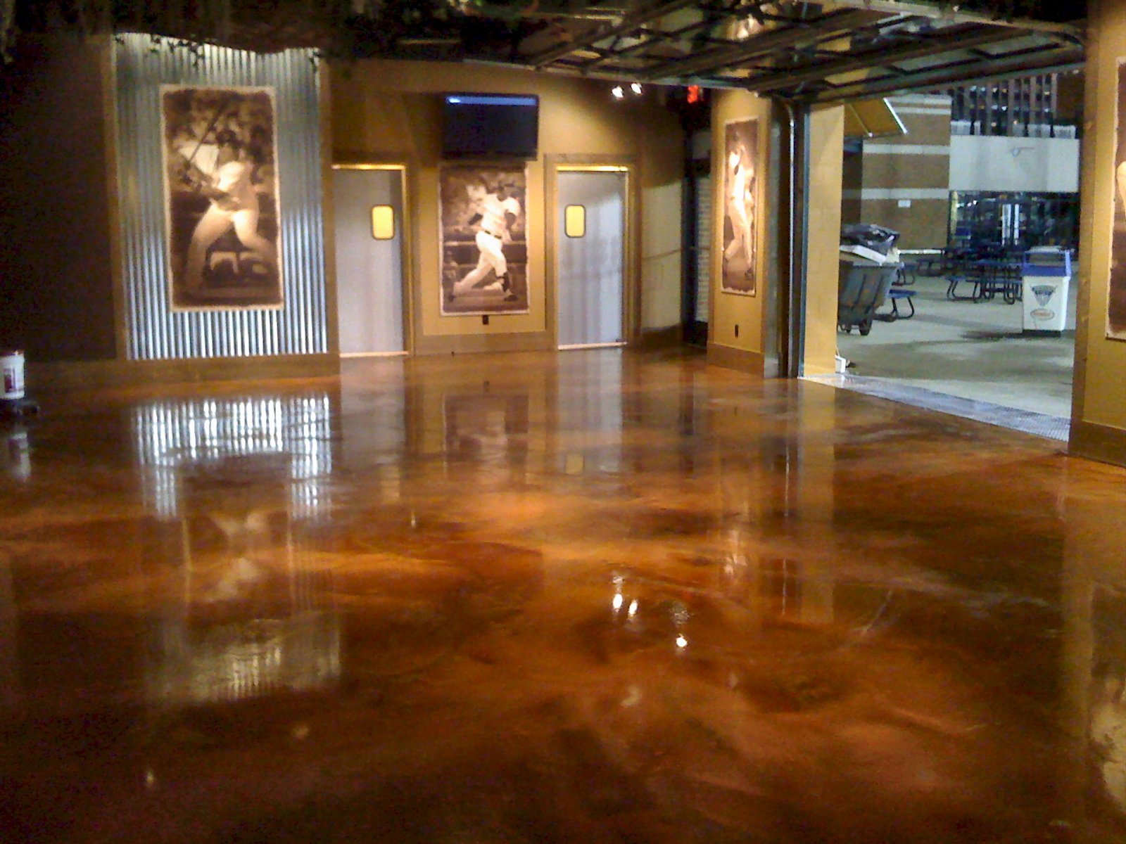 neutral epoxy concrete floor - Concrete Floor Design Ideas