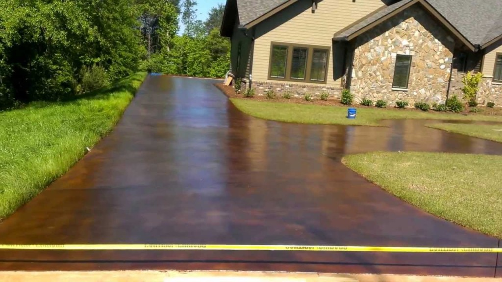 5 reasons to choose concrete for driveway maple for Acid wash concrete patio
