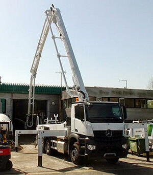 stablization of concrete pump