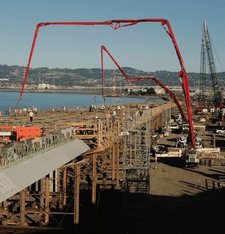 concrete pump size