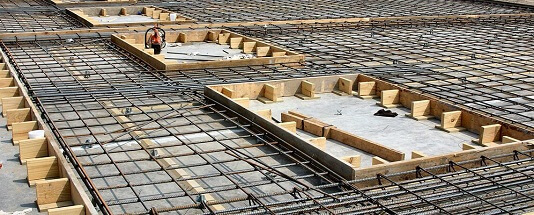 preparing base for concrete pour